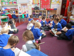 buddy reading during world book day